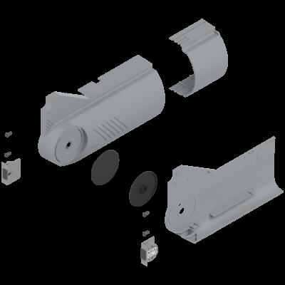 AVENTOS HL, cover cap set(inc trigger switch), left+right, for SERVO-DRIVE, deep grey