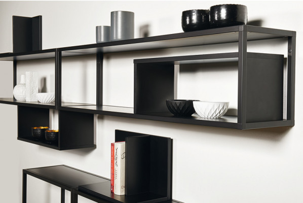 Schuco Smartcube, shelving system complete set, 300x900 mm, black