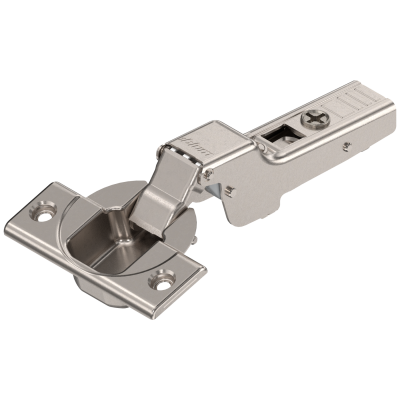 CLIP top hinge 110°, dual applications, unsprung, boss: SCREW-ON, nickel