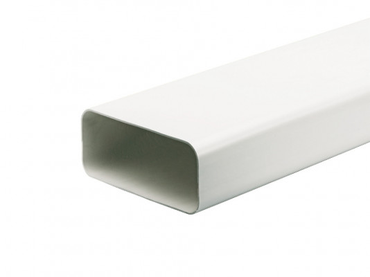 Ducting tube, length 1000 mm, system 150, 89x222 mm, white plastic