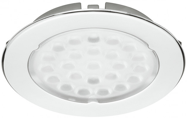 LED downlight 12V/1.6W,  68 mm, rated IP20, LOOX compatible, cool white 4500K, chrome