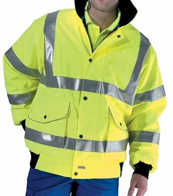 Protective clothing, super bomber jacket, hi-vis, conforms to bs EN471 class 3, size M