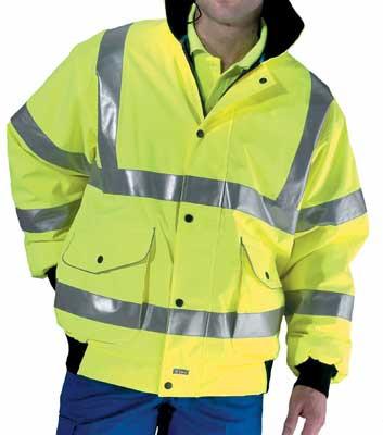 Protective clothing, super bomber jacket, hi-vis, conforms to bs EN471 class 3, size M