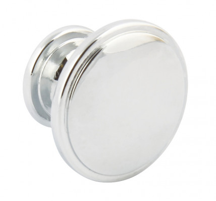 Knob, zinc alloy, Ø 38 mm, henrietta, chrome