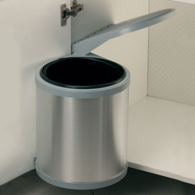 Swing-Out Waste Bin 10Ltr Plastic \ Alu