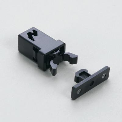Non magnetic mini touch latch, black