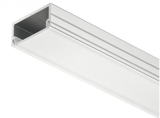 Aluminium Profile, for Flexible Strip Lights, L=2500 mm, H=8.5 mm, W=18 mm, frost