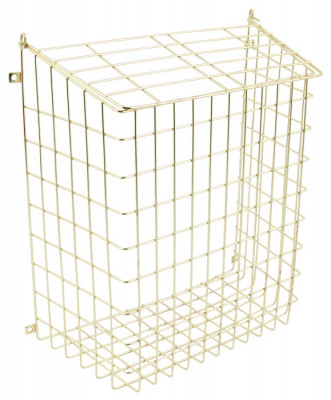 Letter cage, height 404 mm, steel, white epoxy coated