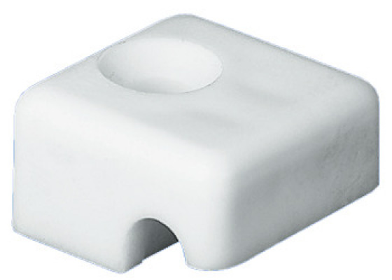 Fastening block, straight laundry baskets, white RAL 9010