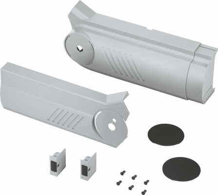 AVENTOS HF bi-fold lift system, cover cap set (inc trigger switch), left+right, grey
