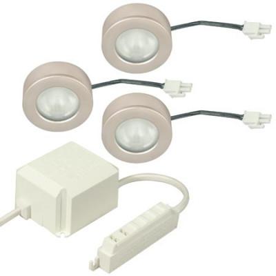 3Xmtd Light Chr 12V/10W+Trans