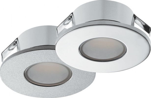 LED downlight 1.5W/12V,  35 mm, IP44, Loox LED 2022, cool white 4000K, silver