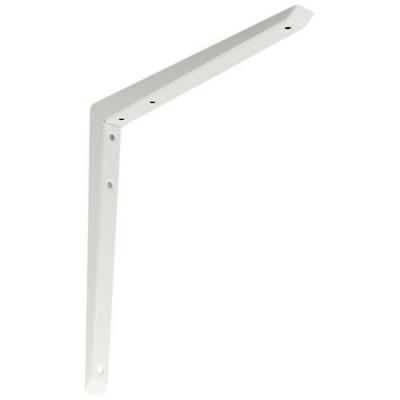 Mitred shelf bracket, 200x200 mm, anti bacteria, White