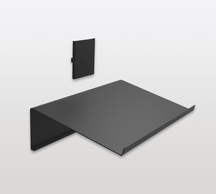 Magazine/shoe rack for PECASA, W=550mm, D=318mm, PEKA, black