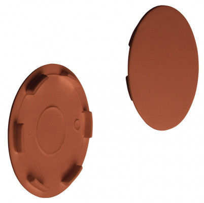 Cover cap, plastic, for maxifix housing, brown RAL 8007, › 38.5 mm
