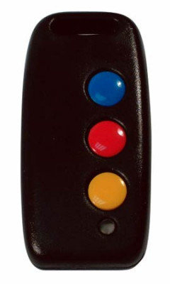 Radio transmitter, 3 button 3 code, for radio sentry system, black