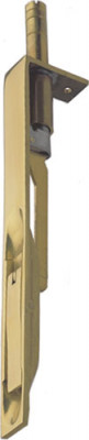 Flush Bolt Ext Throw Pol Brass 203X25mm