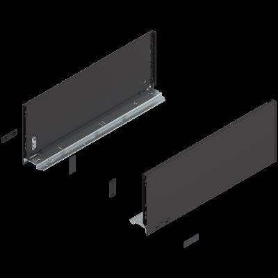 LEGRABOX pure drawer side, height C (177 mm), NL=450 mm, left+right, terra black