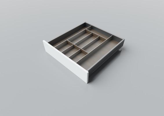 Cutlery divider for LEGRABOX/TA'OR C=550-650 mm, NL=600 mm, walnut