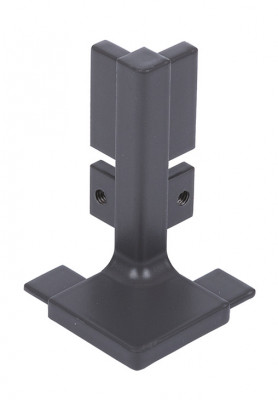 Profile connector, external corners, for profiles, Gola system B plus, bronze
