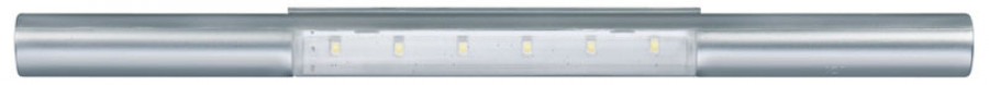 Battery operated door/drawer light, Ø20 mm, IP20, Loox LED 9005, USB charging, silver
