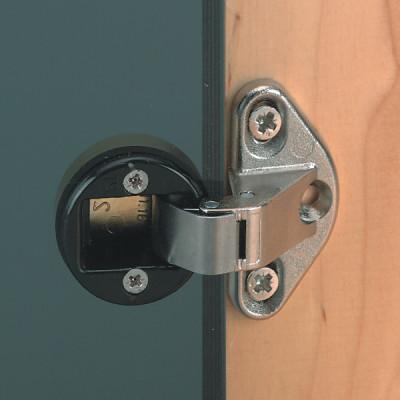 Glass door hinge, 92ø, sprung, for inset doors