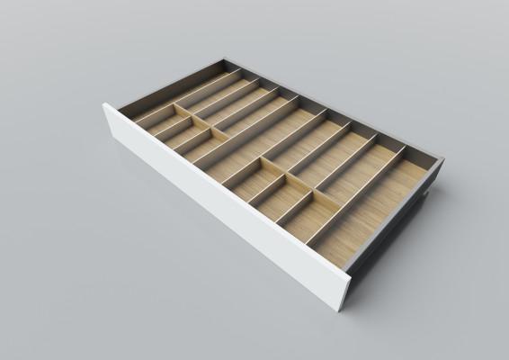 Cutlery divider for LEGRABOX/TA'OR C=950-1200 mm, NL=550 mm, oak