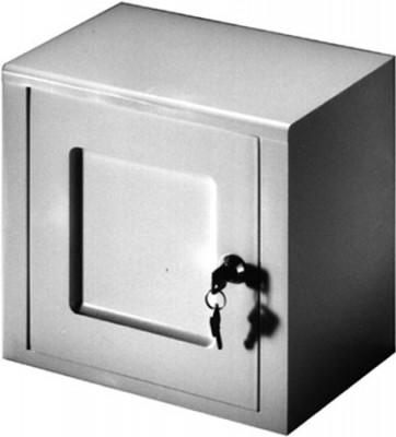 Lockable medicine cabinet, white without logo, width 266 mm