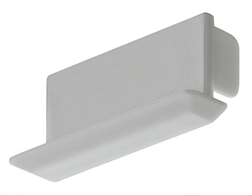 End cap, recessed aluminium profiles, to suit Loox LED flexible strip lights, silver