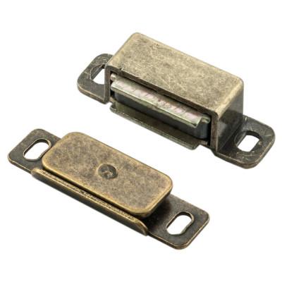 Steel magnetic catch (6 kg pull) 46x15x14 mm, bronze