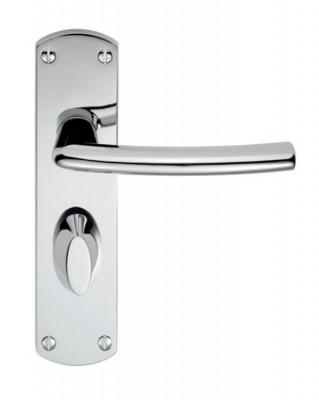 Serozzetta Dos door handle in all door handle variations on backplate in polished chrome