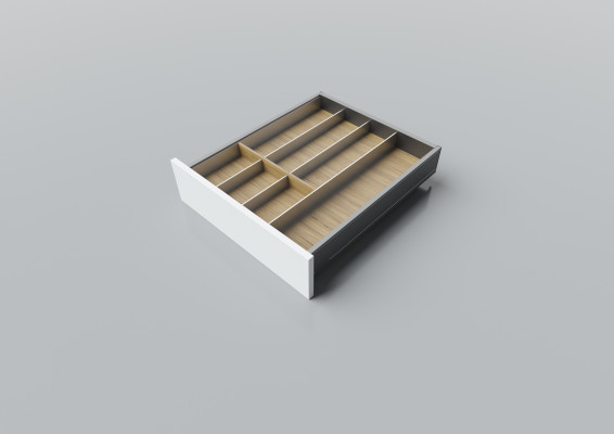 Cutlery divider for LEGRABOX/TA'OR C=400-550 mm, NL=550 mm, oak