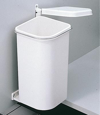 Waste bin, pico vanity, hinged cabinet doors, for side mounting, uned, 5 litres,