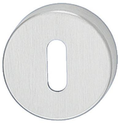 Escutcheons, for STARTEC lever handle, standard keyway, ›52 mm, 304 stainless steel, satin