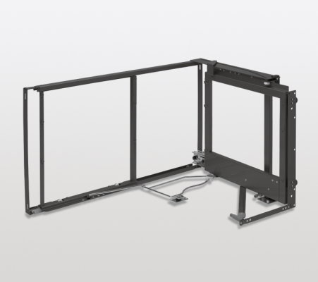 Magic corner standard mechansm, 900 mm, s/close door, right, DW=550 mm, PEKA, anthracite