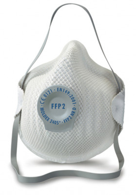 Dust mask, disposable, with FFP2 protection, Moldex, protective level: FFP2 10x WEL