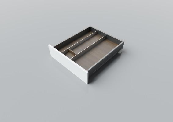 Cutlery divider for LEGRABOX/TA'OR C=500-550 mm, NL=550 mm, walnut