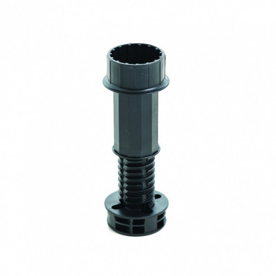 Plinth leg, adjustable, H=110-183 mm, LEG ONLY, black