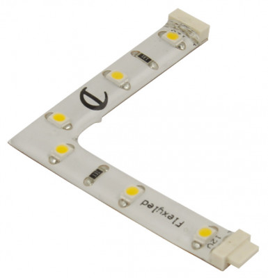 LED flexyled compatible, strip light connector 12V, Loox 1076, right, 3000-3500K