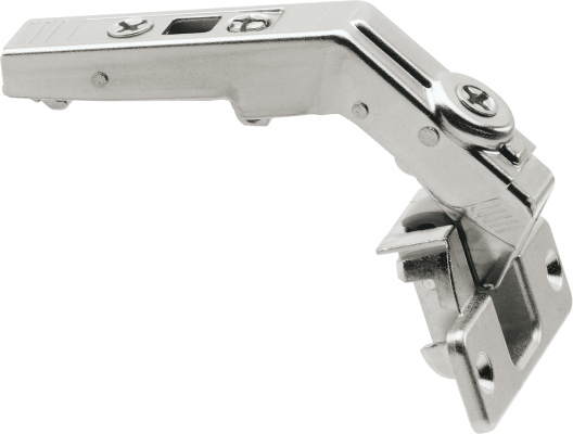 CLIP top bi-fold hinge 60°, boss: screw-on, NP