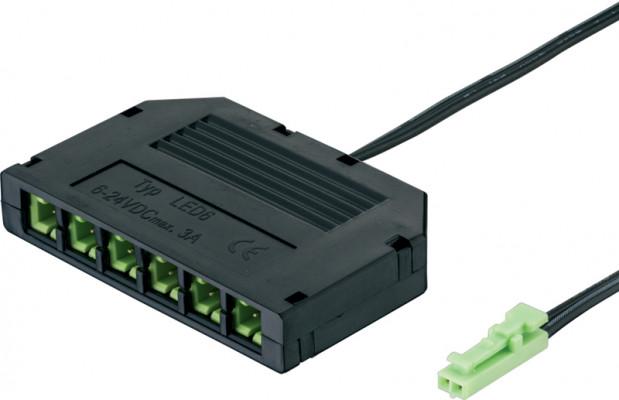 Loox 6-Way Distibutor Box 24V Black