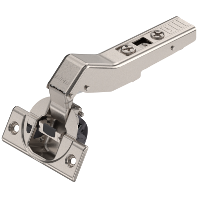CLIP top BLUMOTION angled hinge 110° for +45° application, OVERLAY, boss: SCREW-ON, nickel