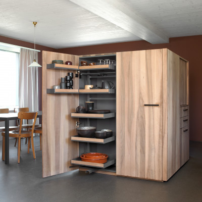 Pull out larder unit,PLENO PLUS FIORO, CW=600 mm,HT=1900mm anthracite