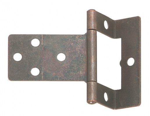 Flush hinge, cranked, non mortice, steel, non mortice, medium duty applications, zinc