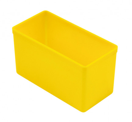 Compartment insert, plastic, yellow