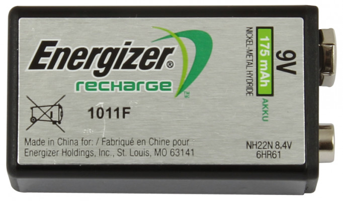 Energizer Recharge Battery 9V 175 Mah