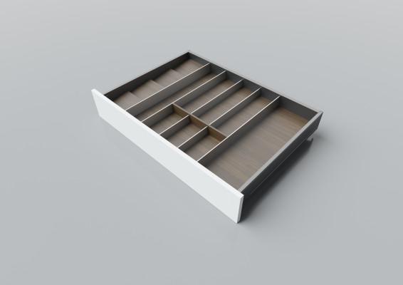 Cutlery divider for LEGRABOX/TA'OR C=700-900 mm, NL=550 mm, walnut