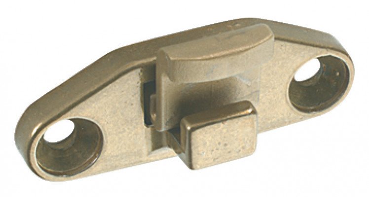 Rest, non-locking, for use with casement stay, zinc alloy, nickel