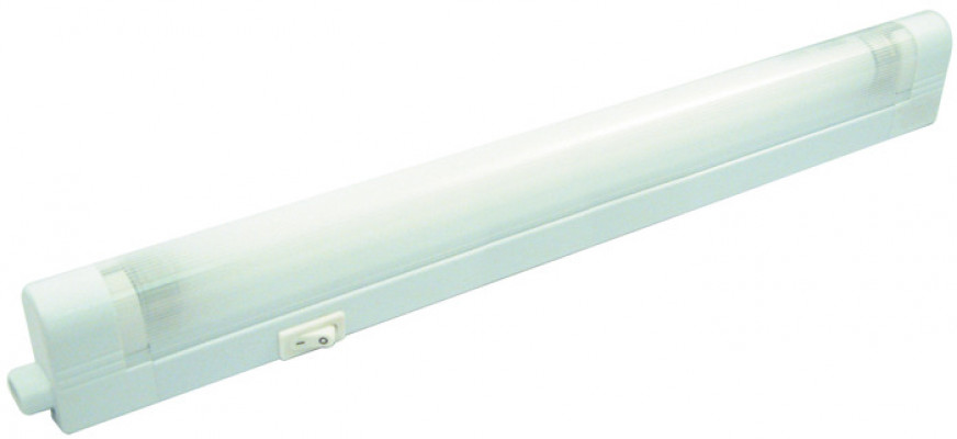 Fluorescent strip switched, L=343 mm, 8W/240V, 5 mini fluorescent, natural white 4200K