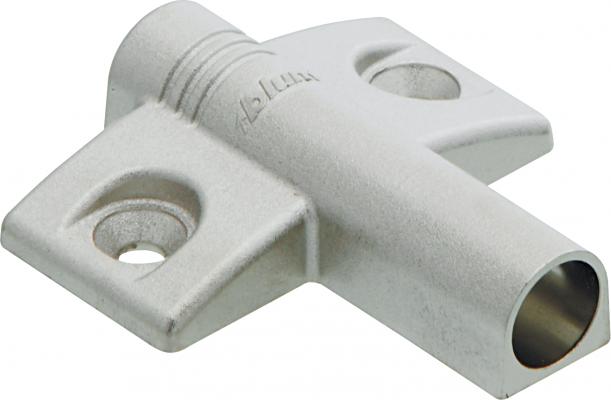 TIP-ON Cruciform BLUMOTION adapter, zinc diecast, NP
